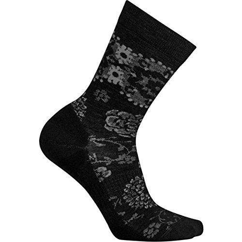 Smartwool Women's Dahlia Dream Crew Black Socks MD (Women's Shoe 7-9.5)