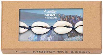 MBRC the ocean - Shell Bracelet - Trendiges Designarmband mit Natürlichen Muscheln im Strandlook - Surferseil-Gewebearmband - Hergestellt aus 100% recyceltem Kunststof
