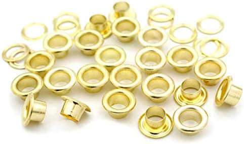 CRAFTMEMORE 5//16 8MM Leather Canvas Clothes Hole 100 Sets Grommets Eyelets with Washers for Shoes Bead Cores Antique Brass