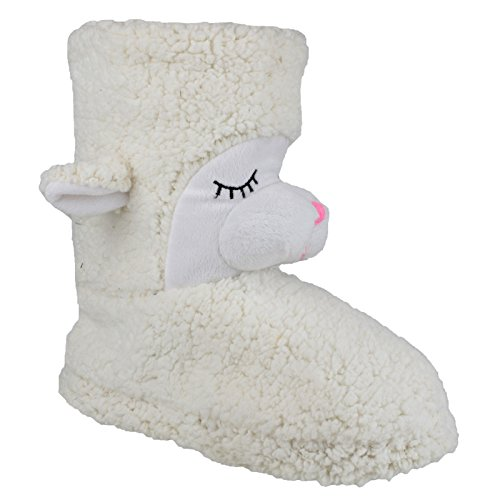 Divaz Womens/Ladies Country Animal Bootie Slippers Cream 4v461if