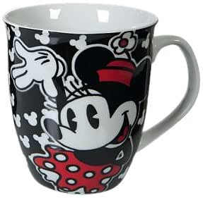 United Labels Minnie Mouse 0807675 - Taza de porcelana, 350 ml, color negro [importado de Alemania]