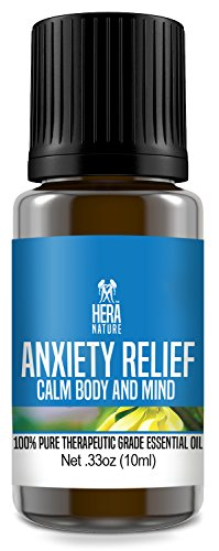 Best Anxiety Relief Essential Oil Blend -100% Pure, Therapeutic Grade - Depression, Stress Relief, Relaxation, Boost Mood, Calming (USA) - 10ml