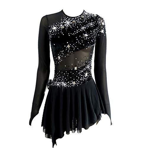 Figure Skating Costumes For Kids - 2019 New Figure Skating Costume Black