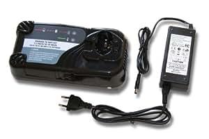 vhbw cargador rápido con fuente de alimentación para herramienta Hitachi, por ej. CD4D, CL 13D, CL13D, DB 12DM2, DH 15DV, DH15D2, DH15DV, DN 12DY