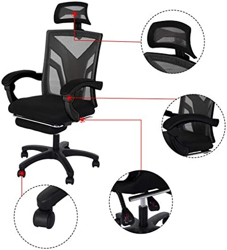 【US in Stock 7 Days Delivery】 Computer Chair Gaming Chair Racing Style Office Chair Adjustable Swivel Rocker Recliner High Back Ergonomic Computer Desk Chair with Footrest (1pc, Black) 41xg 2Bz4Wi L