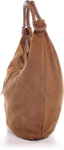 cuero Tobacco CNTMP marrón Hellbraun de hombro Bolso para al mujer 7qqOSzI