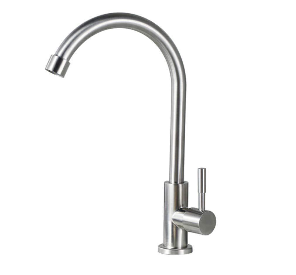 Edelstahl Einhand Mischer Einhebel Einzelne Kalte Wasserhahn Küche Waschbecken Becken Wasserhahn Grünikal 304 Edelstahl