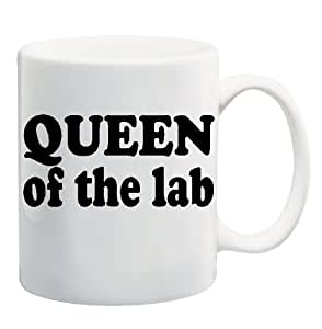 QUEEN OF THE LAB Mug Cup - 11 ounces by Apple Orange Gifts