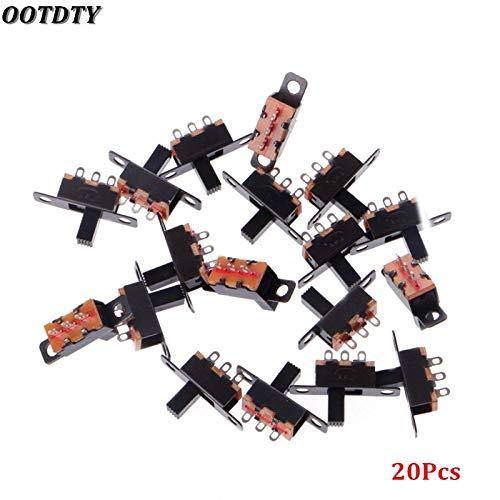 (Switches - 20 Pcs Dc 50v 0.5a 3 Solder Lug Pin 2 Position Spdt 1p2t Mini Panel Slide Switch - Blade Enhancer Case Switch Switch-up Switcher Controller Enhance Game Blank Games Slide)