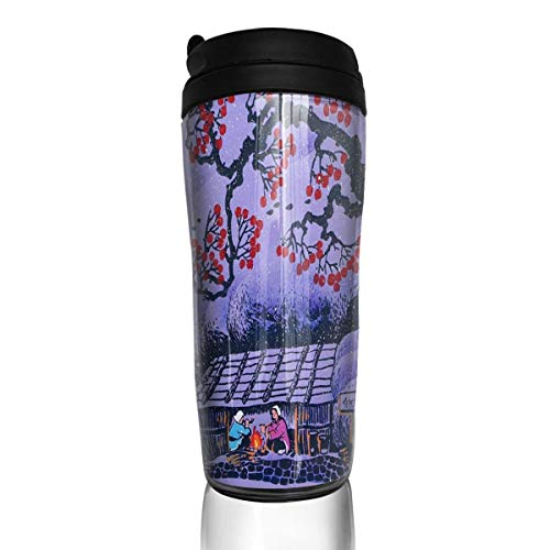 Coffee Mug Chinese Panda On Plum Blossom Animals Travel Tumbler Insulated Leak Proof Drink Containers Holder Unique 12 Ounces