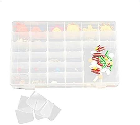 18 grids fablcrew joyer/ía organizador caja de almacenamiento contenedor pl/ástico caso claro con divisor ajustable pl/ástico 23 X 12 X 4.3cm