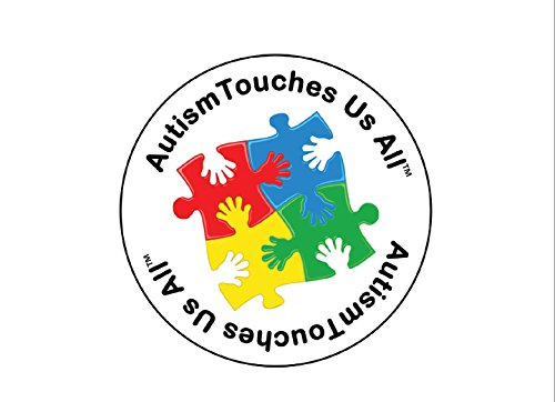 Autism Touches Us All Stickers (1 Roll - 500 Autism Stickers) -