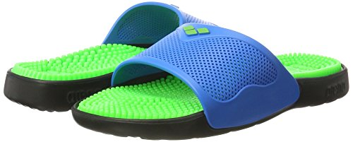 Grip Solid Adulte amp; Chaussures turquoise Badesandale Mixte Unisex Lime Arena De Plage X Piscine 37 Marco qfAAwI