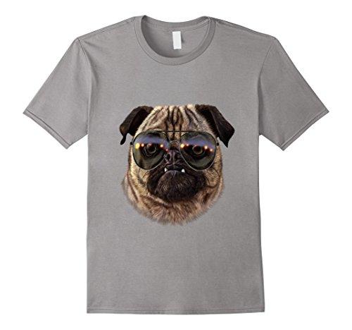 Mens Swag Grumbling Pug in Aviator Sunglass, Dog T-Shirt Medium - Sunglasses Aviator Pugs
