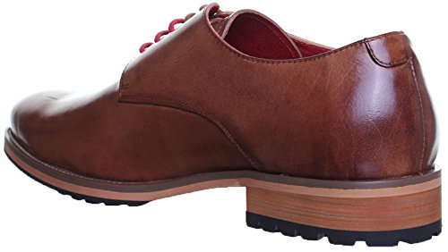 Original Justin Reece Lace up robuste Sohle Derby Schuhe Brown nt98