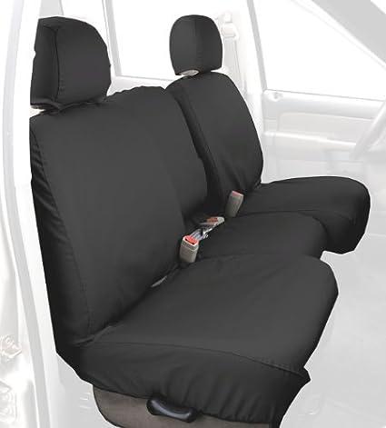 Covercraft Custom-Fit Rear-Second Seat Bench SeatSaver Seat Covers Grey Polycotton Fabric SS8365PCGY