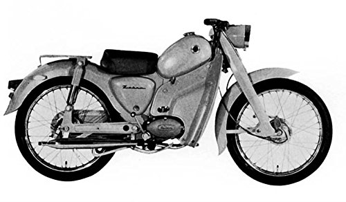 1961 Zebra Pet Deluxe Moped Factory Photo from AutoLit