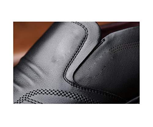 Black Colore Nastro Affari Morbido Scarpe Pelle Casual in Tela Stivali Stagione Tondo Sportivi Uomo Sandali A Punta aqPBRU