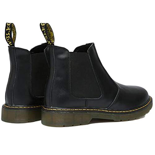 Martin Boots retr Brogue Pelle Medio Pelle Classico Sicurezza Oxblood Uomo Chelsea Stivali Nero Stivali in BCdwqx8
