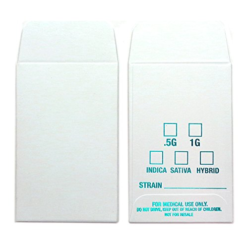 500 White Aqua Blue Shatter Labels Oil Coin Envelopes 2.25'' X 3.5'' Foil Label Version #054 by Shatter Labels