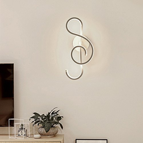 Sheen Modern Creative Simplicity Wall lamp,Led 22w Hardwired Flush Mount Aluminum Northern Europe Wall Sconce Bedroom Porch Living Room Stairs Wall sconces Light 14x37cm-White - White Light