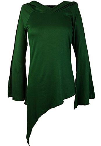 Guru-Shop - Camiseta de manga larga - para mujer Verde
