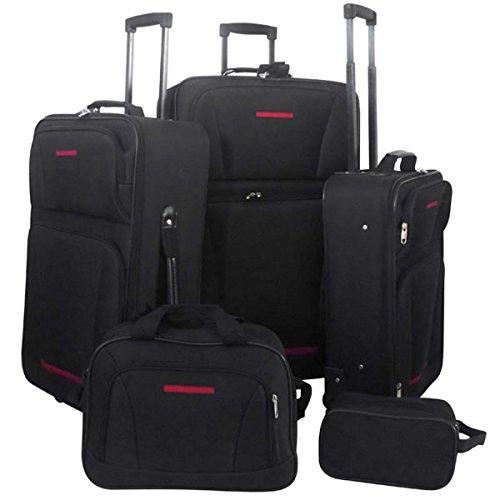 Kofferset Koffer Trolley Reisekoffer 5 teilig schwarz