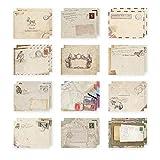 Retro Mini Envelopes Cute Greeting Card for Christmas, Wedding, Birthday Party 12Pcs
