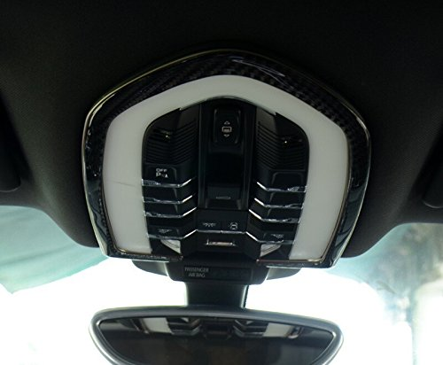 HOTRIMWORLD Carbon Fiber Front Roof Reading Light Trim Cover 1pcs for Porsche Macan 2014-2018 by HOTRIMWORLD (Image #2)