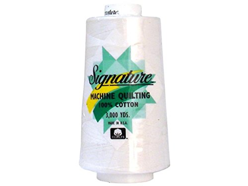 Signature Thread Signature Ctn 3000yd 100% Cotton Quilt Thread 3000 White