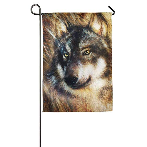 HUVATT Eagle Wolf Garden Flag Indoor & Outdoor Decorative Flags for Parade Sports Game Family Party Wall Banner 12 x 18 inch