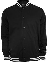 Urban Classics Men's TB269 Summer Cotton College Jacket XXL Black