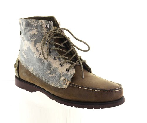 Sebago Mens Ankle Boots Size 11 M B10123 Exo Stealth Camo Canvas