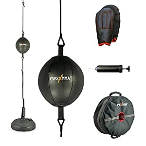 MaxxMMA Double End Striking Punching Bag Kit + MaxxMMA Core Weight Training Bag Multifunctional 3-in-1