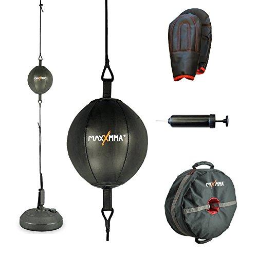 MaxxMMA Double End Striking Punching Bag Kit + MaxxMMA Core Weight Training Bag Multifunctional 3-in-1 by MaxxMMA