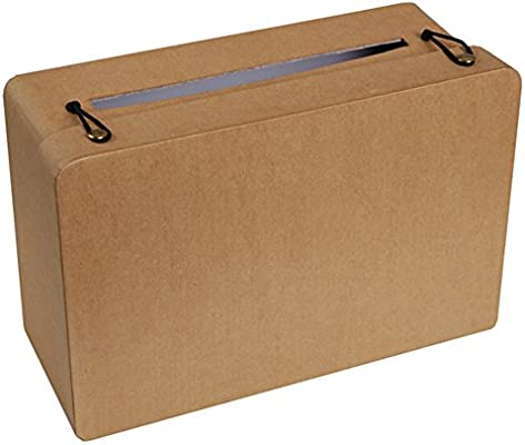 Hucha rectangular Kraft 24 x 16 x 10 cm: Amazon.es: Hogar