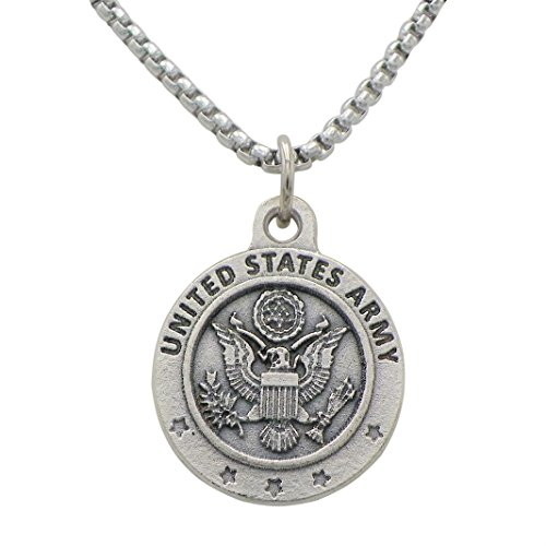 Saint Ann Costume (Rosemarie Collections St Christoper Military Branch Pendant Necklace (Army))