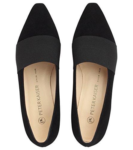 Cuero Mujer De Zapatos Tacón Sued Kaiser Lagos Cerrados Black Peter qwSfU6g