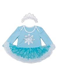 Tsyllyp Baby Girls Mermaid Costume Snow White Anna Elsa Outfit