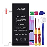 JEMESI Battery for Model iPhone 6, New Cycle 2200mAh Li-ion Battery Replacement-with Repair
