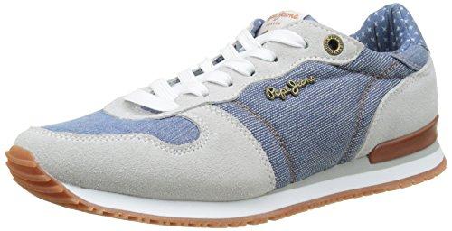 Pepe Jeans London Gable Denim Combi, Zapatillas para Mujer Azul (AZZURRO)