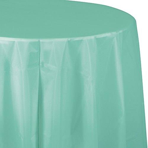 - Creative Converting 318893 Touch of Color 12-Count Octy-Round Plastic Table Covers, 82-Inch, Fresh Mint