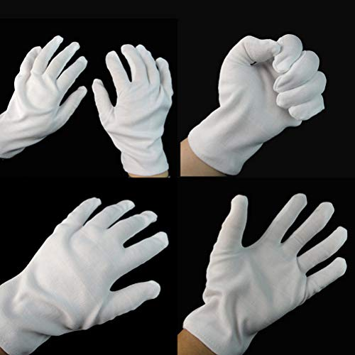 Party Diy Decorations - Arrive 1 Pair White Performance Cotton Gloves Costume Magician Party Halloween Decoration - Party Decorations Party Decorations Dress Egyptian Halloween Deadpool Costum Co]()