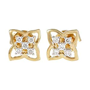 Love Binds 18K Gold Diamond Stud Earring