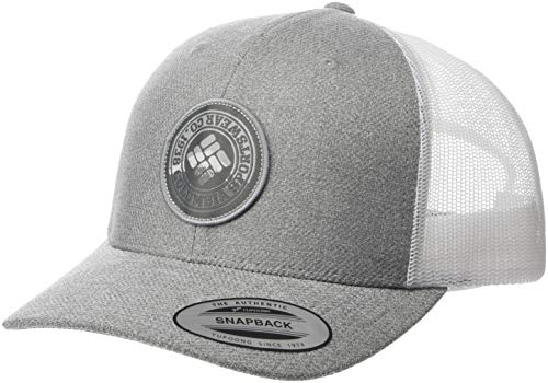 (Columbia Men's Mesh Snap Back Hat, Grey Heather, One Size)