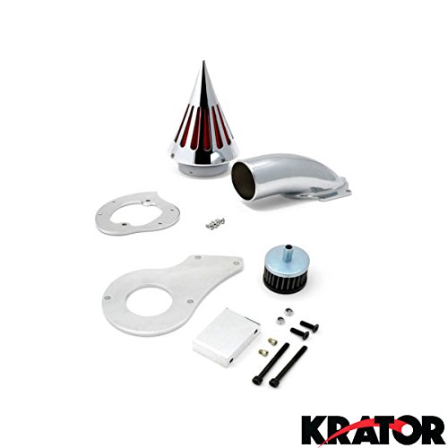 Krator 1999 & up Honda Shadow 600 Cruiser Chrome Billet Aluminum Cone Spike Air Cleaner Kit Intake Filter Motorcycle