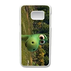 Generic Fashion Hard Back Case Cover Fit for Samsung Galaxy S7 Cell Phone Case white The Good Dinosaur with Free Tempered Glass Screen Protector PKL-6022259