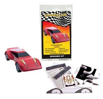 PineCar Derby Racers Designer Kit Thunderbolt by - Derby Designer Outlet