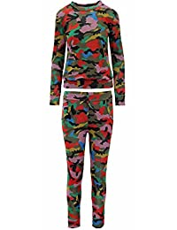 Forever Womens Addicted Print Tracksuit Sweatshirt Joggers Set