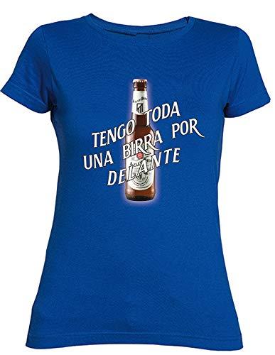 1c65320f8135c Camiseta Chica del Atlético de Madrid Tengo Toda UNA Birra por Delante   Amazon.es  Ropa y accesorios